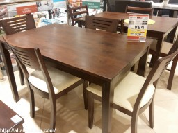 4 wooden dining chairs and table for 529, whatless they can offer?