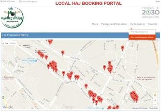 Find Hajj Companies Places